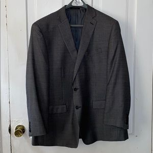 Calvin Klein Black/Dark Gray Blazer